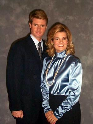 Blair Warner and her husband, Tad.