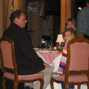Clancy Cauble, Lisa Whelchel's daughter, is in the restaurant scene. Look for her in the background in the movie.