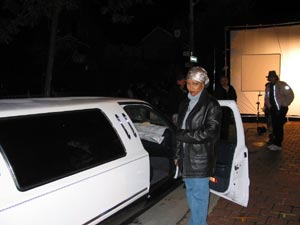 Kim Fields getting into Blairs Limo!