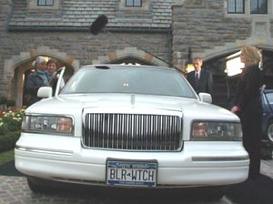 Blair Warner's Limo. Notice the license plate is BLR WTCH.