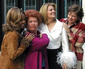 All the girls, and Mrs. Garrett (Charlotte Rae) having fun shooting a scene.